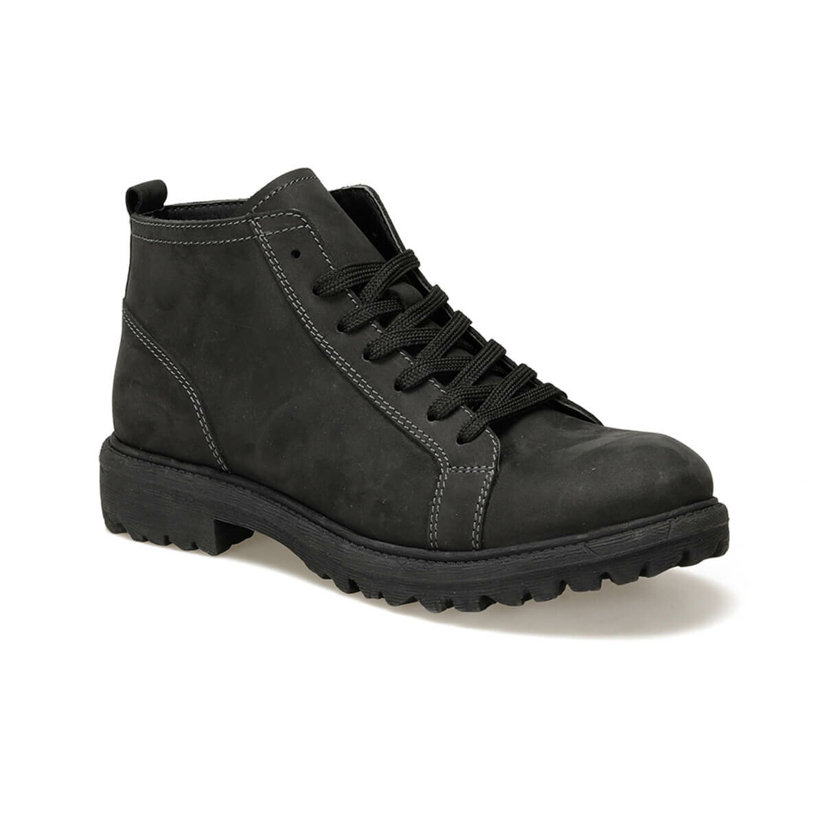 FLO 9902-1 Black Men Boots Forester