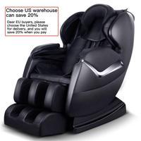 Bolsa de aire multifunción reclinable para masaje, silla para masaje rodillo de pies de lujo de gravedad cero con calor y Bluetooth