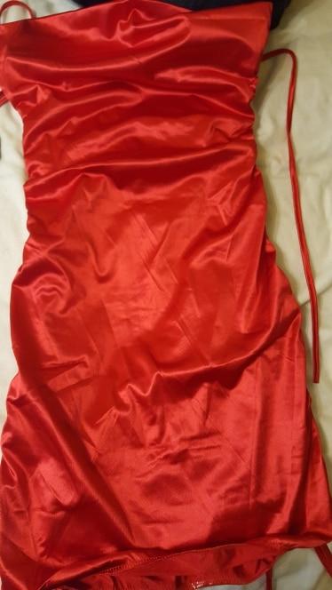Colysmo Sexy Summer Dress Women Spaghetti Straps Bodycon Dress Slim Stretch Multi Wear Ruched Club Satin Dress Vestidos photo review