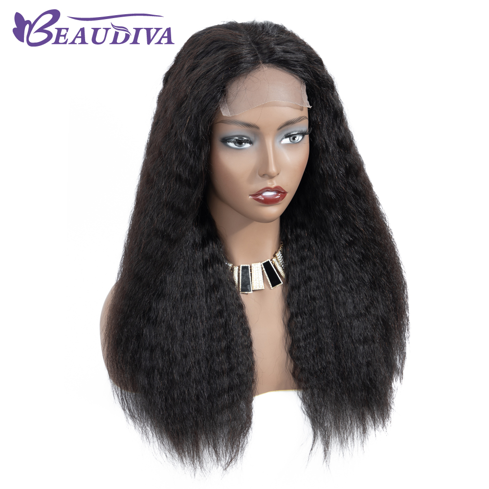 Uac7e8b06b7a64934b044d366a815019f7 Curly Haman Hair Wig Brazilian Kinky Straight 4*4 Lace Closure Prepluck with baby hair closure wig 100% Human Hair Wigs