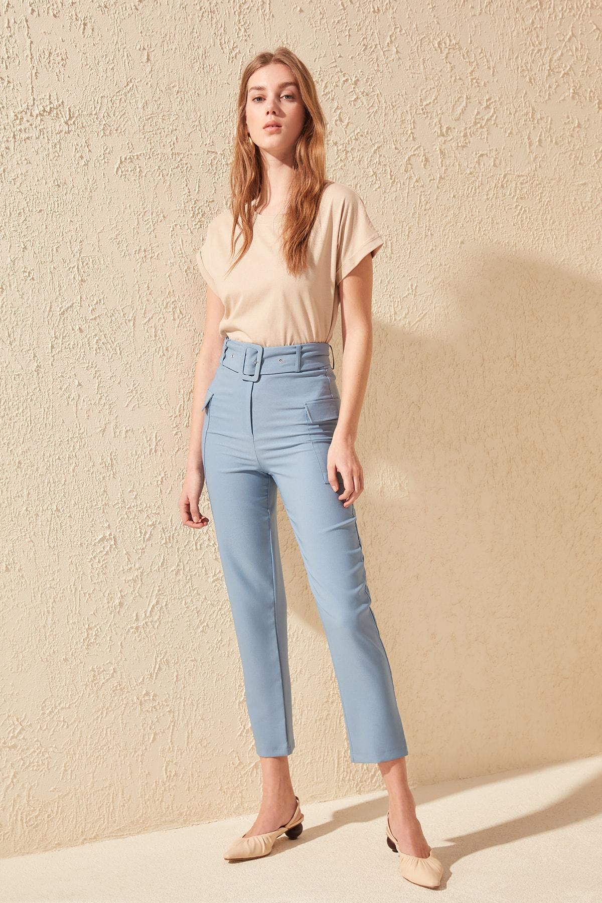 Trendyol Arched Pants TWOSS20PL0092