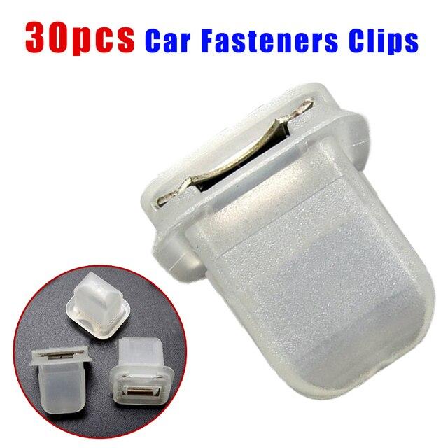 30Pcs Auto Interieur Trim Moulding Klemmetjes Fasteners Clip Voor Bmw E38 E39 E60 Auto Clips Fasteners Met Metalen insert