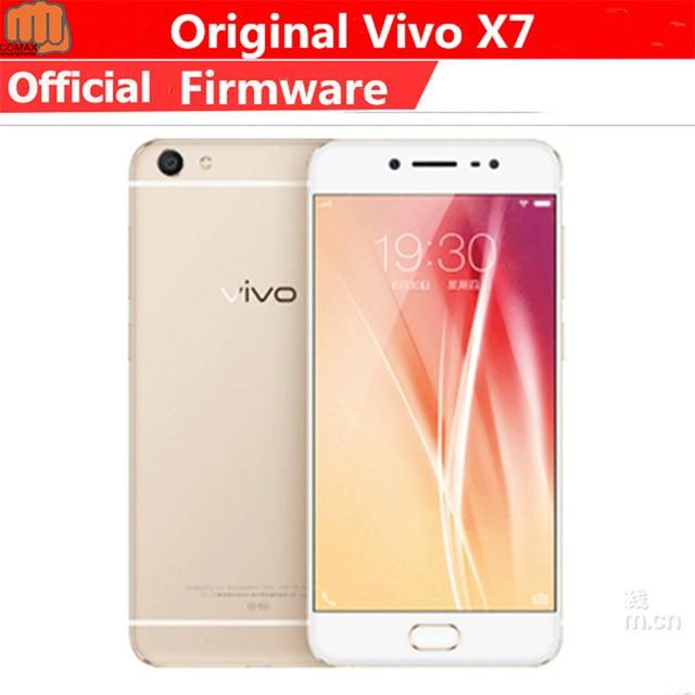 "smartphone Vivo X7 4G LTE Mobile Phone Snapdragon 652 Android 5.1 5.2"" IPS 1920X1080 4GB RAM 64GB ROM 13.0MP+16.0MP Fingerprint"