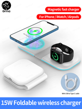For Apple iPhone 12 Pro Max 12 Mini Grma Original 15W Magnetic Safe Wireless Duo Charger For Apple Watch iWatch Airpods Charging