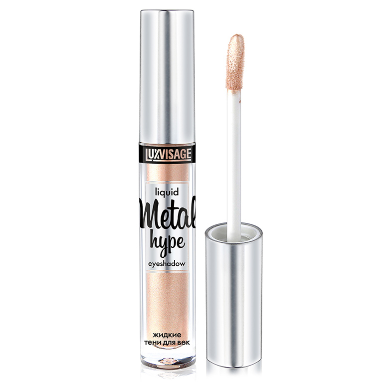 Liquid Eyeshadow Luxvisage Metal Hype 3,5G Metallic Diamond Palette Eyeshadow Pearly Waterproof Liquid Eyeshadow Glitter Eye Shadow Shimmer Eye Makeup