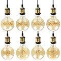 Специальный G125, новый дизайн, светодиодная лампа Эдисона, спиральный светильник, янтарная Ретро лампа, энергосберегающая лампа, винтажная л...