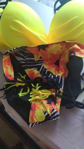Plus Size Sexy Bikini 2021 New Push Up Swimwear Women Floral Print Bikini Set Swimsuit Bathing Suit Beachwear Biquini Two Piece|Bikini Set|   - AliExpress