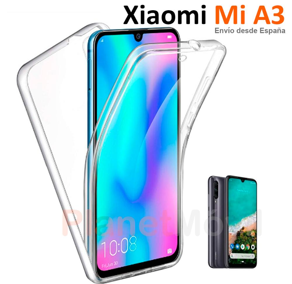 Compatible Con Xiaomi Mi A3 Funda Doble Cara 360 Grados Completa Delantera + Trasera Carcasa Integral Antigolpes