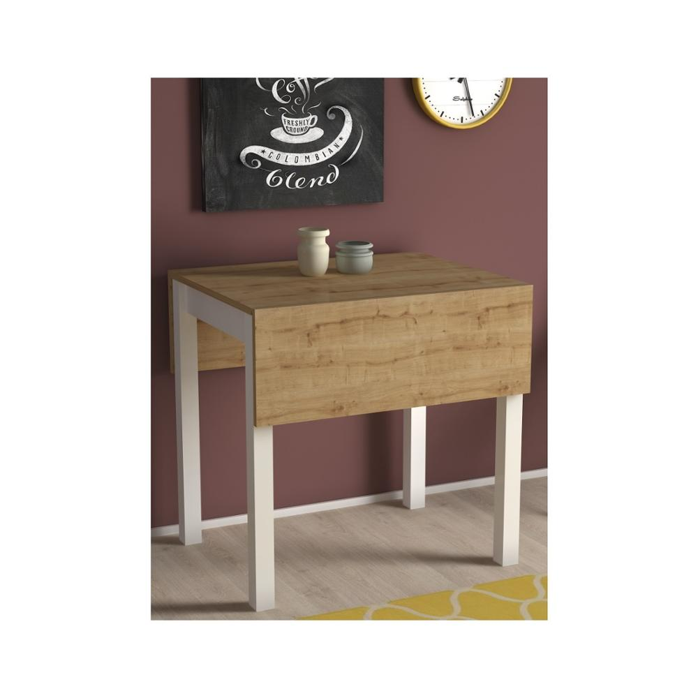 MADE IN TURKEY Folding Dining Table Solid Wood Computer Desk Kitchen Table Dining Room Furniture Kitchen Habitdesign Living Room