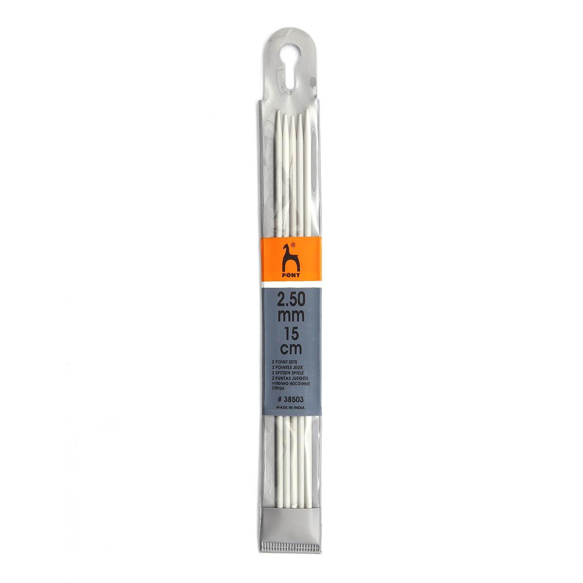 38503 Спицы носочные алюминий 2,5мм*15см PONY|Вязание|   | АлиЭкспресс