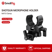 SmallRig DSLR Camera Cage Microphone Holder (NATO Clamp) With 19 25mm Diameter Microphone Shock Clamp Holder   2351