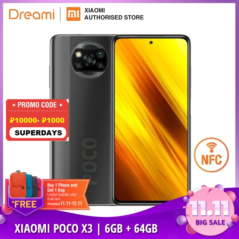 Global Version Xiaomi POCO X3 6GB RAM 64GB ROM (Brand New / Sealed) poco, pocox3, 64, telephone, mobile