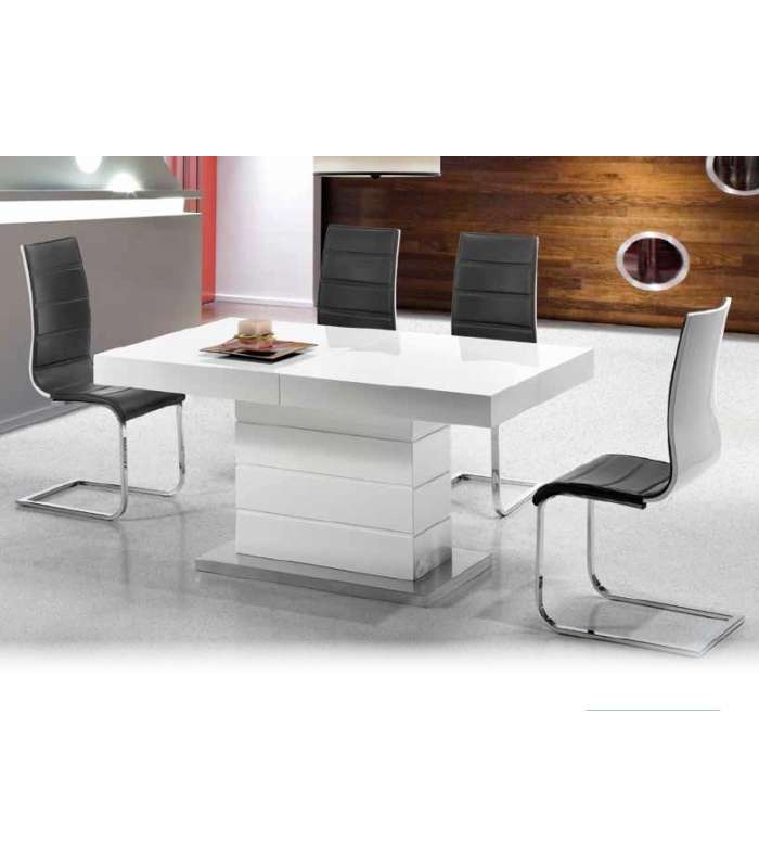 Table In White, Extendable Board Hidden Model Nile