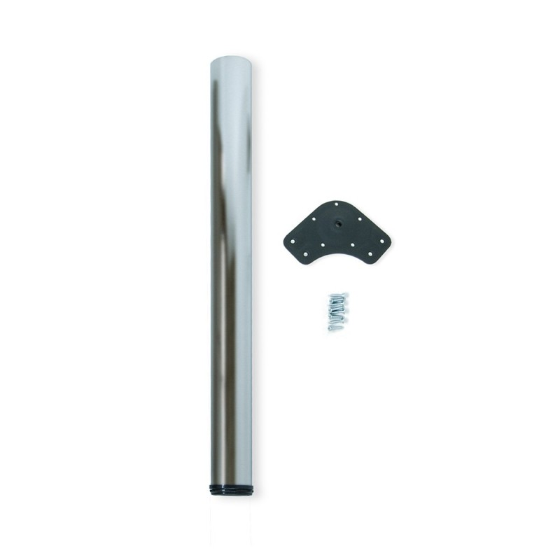 Table Leg Dimmable Emuca D. 80x1.100mm Steel Satin Nickel