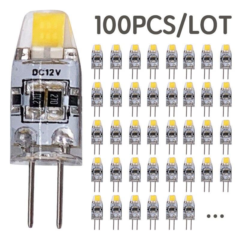 100 PCS/LOT en gros 3W COB DC 12V G4 LED ampoule remplacer 30W halogène lumières projecteur lustre 360 faisceau Angle G4 LED lumières