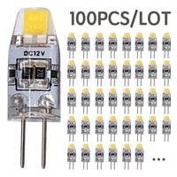 100PCS/LOT Wholesale 3W COB DC 12V G4 LED Bulb Replace 30W Halogen Lights Spotlight Chandelier 360 Beam Angle G4 LED Lights