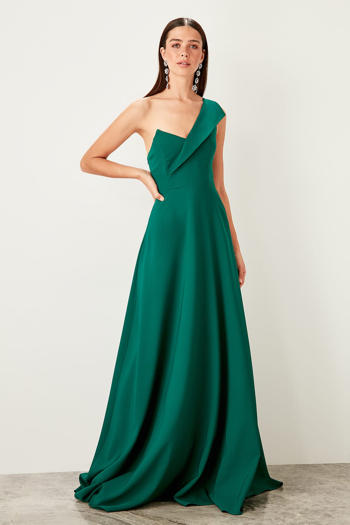 Trendyol Collar Detail Evening Dress Dress TPRSS19UT0054