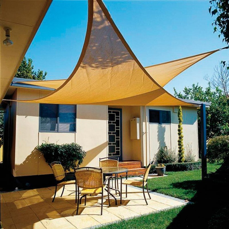 Sun Sail Shade Garden Triangulate 3,6x3,6x3,6 Meters Beige