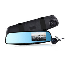 лучшая цена Creative Car DVR Camera 4.3 Inch Rearview Mirror Dash Cam Digital Video Recorder 1080P HD 170° Auto Camcorder Dual Lens Camera