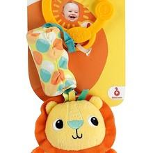 Rattle baby child Bright Starts Travel Toy Chıme Along Rattlesnake Friends