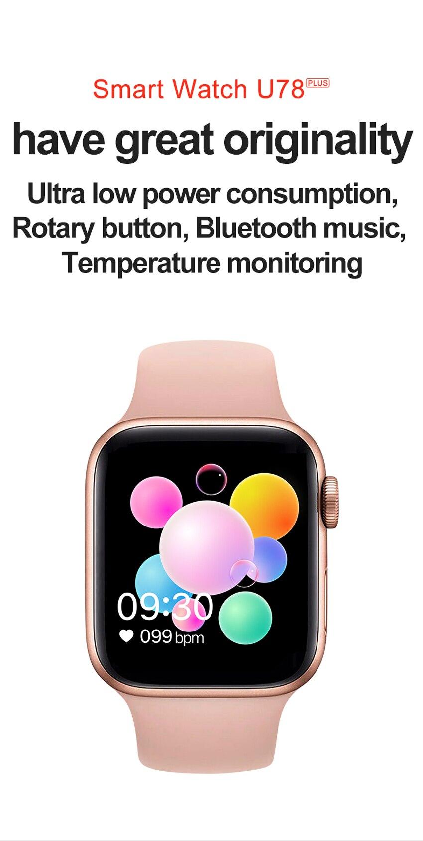 Uacd94ec7caa847b381ace4a33d3d521eb U78 Plus Smart Watch Bluetooth Phone Call Smartwatch