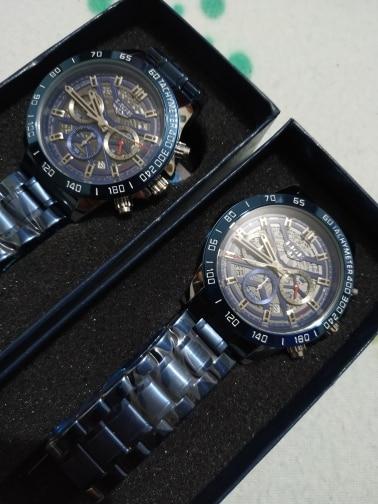 Excelente reloj muy bonito gracias al vendedor lo recomiendo cinco estrellas