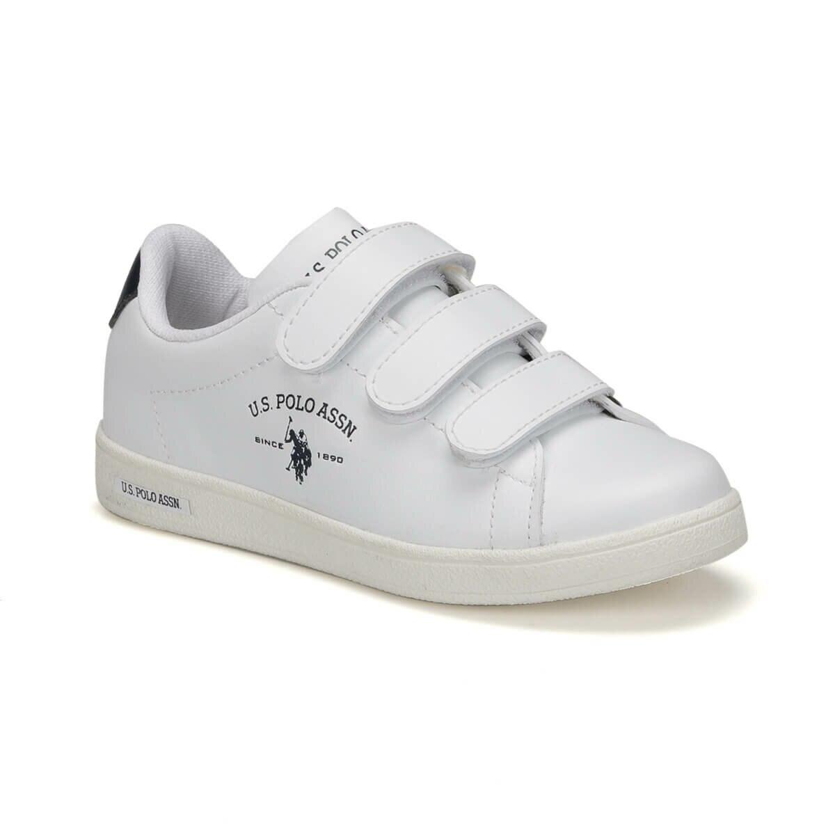 FLO SINGER 9PR White Male Child Sneaker Shoes U.S. POLO ASSN.