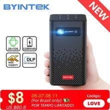 BYINTEK P20 Mini Portable Pico Smart Android Wifi Screenless TV lAsEr LED DLP Projector for Mobile Smartphone 1080P 4K Cinema