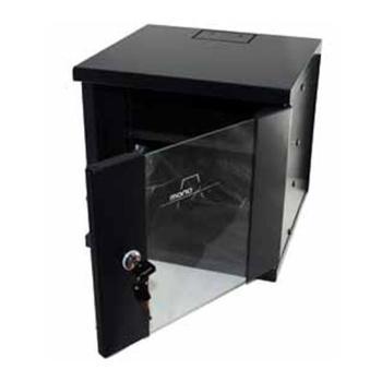 "Wall-mounted Rack Cabinet Monolyth 200000 6 U 330 x 310 mm 10"" Black"