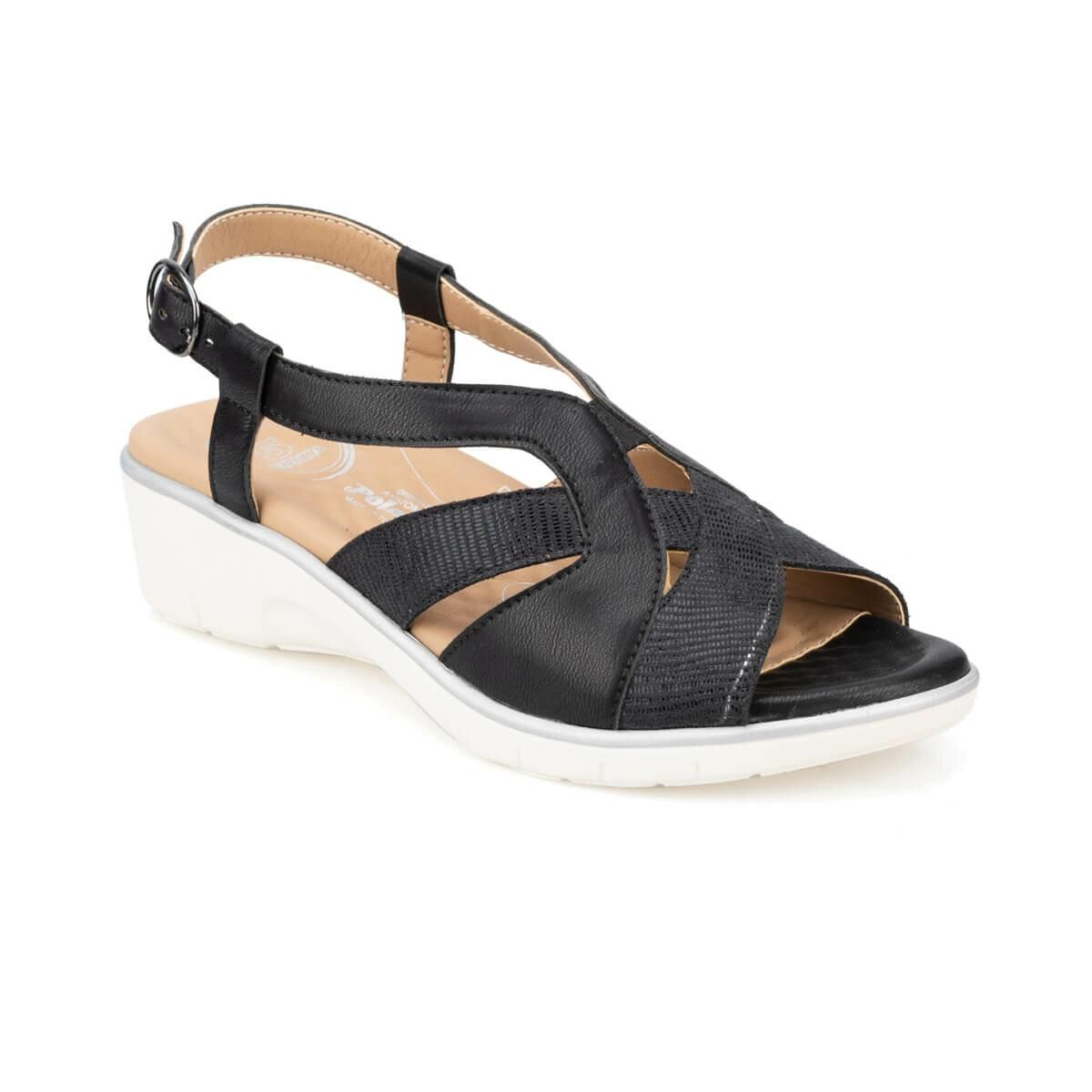 FLO 91.100701.Z Black Women Sandals Polaris 5 Point