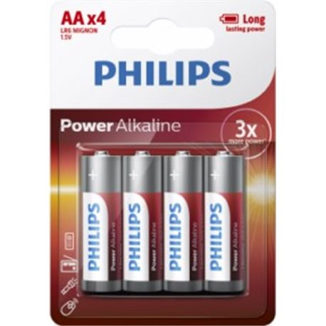 1,5V ALKALINE Battery LR06 AA PHILIPS POWERLIFE AAA-LR6P4B/05