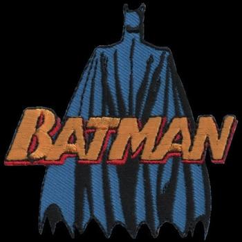 Batman Sắt Miếng Dán Toppa Ricamata Gestickter Miếng Dán Miếng Dán Brode Parche Bordado Kích Thước: 7,50Cm
