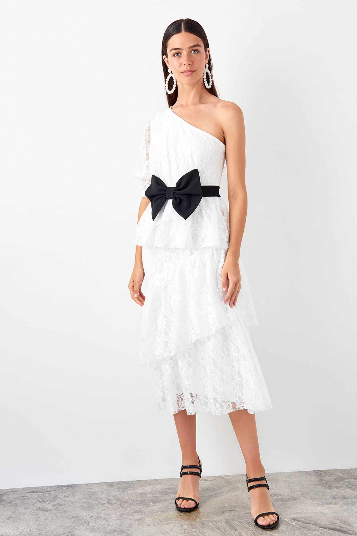 Trendyol Ruched Dress TPRSS19EL0529