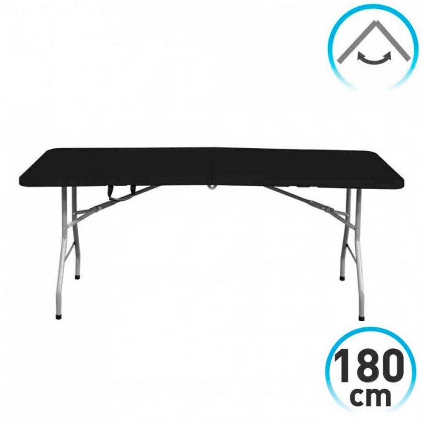 Table 180cm Rectangular Black Folding Caterers GH91