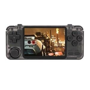 Rk2020 mini console de jogos de vídeo portátil 3.5 Polegada tela handheld jogador de jogo retro correndo para jogos ps1/n64 com 10,000 jogos
