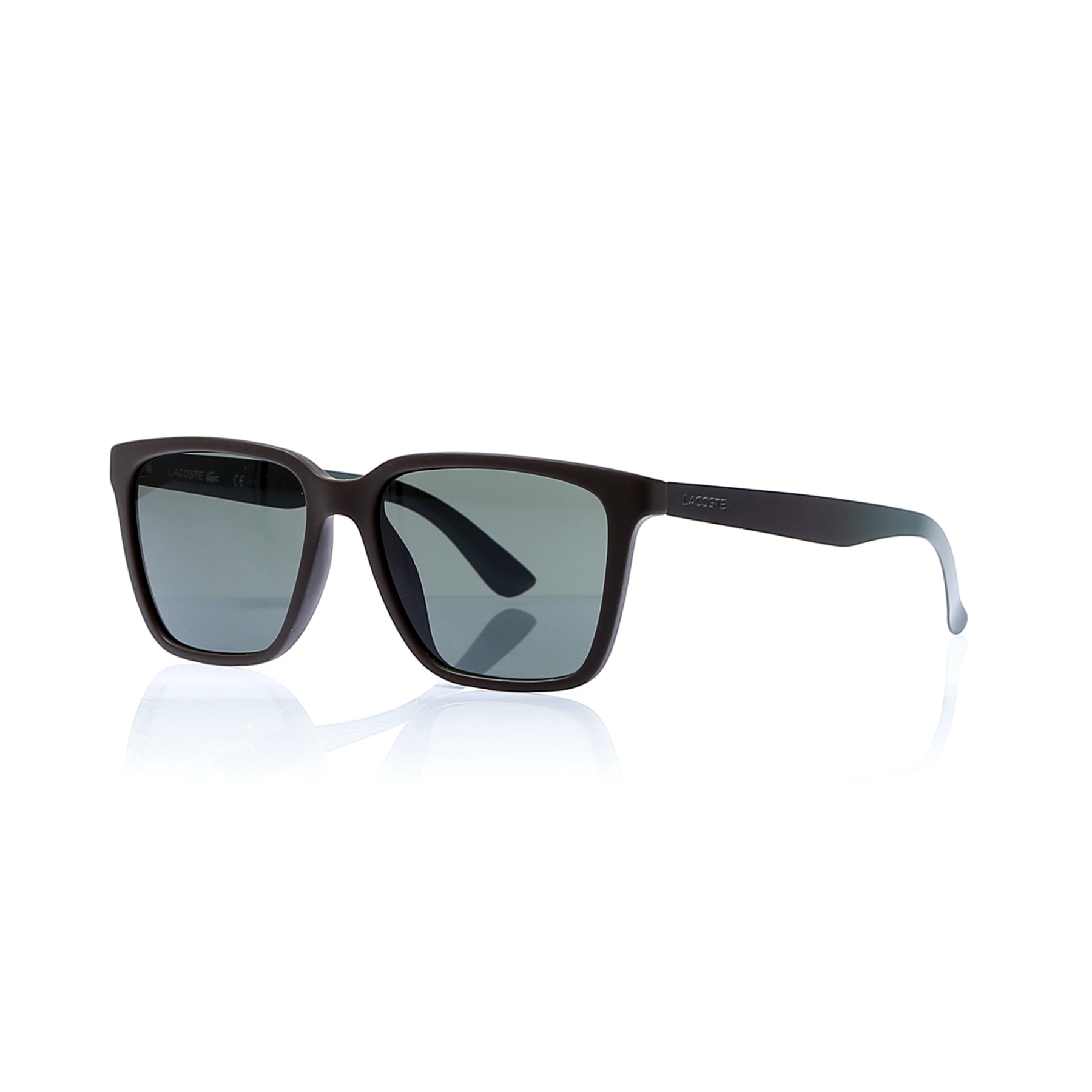 Unisex sunglasses lcc 795 210 bone Brown organic square square 54-16-140 lacoste