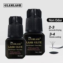 GLAMLASH 5ml/10ml 2-3s hızlı kuru olmayan koku hiçbir simülasyon kirpik uzatma tutkal bireysel güçlü yanlış göz kirpik yapıştırıcısı yapıştırıcı