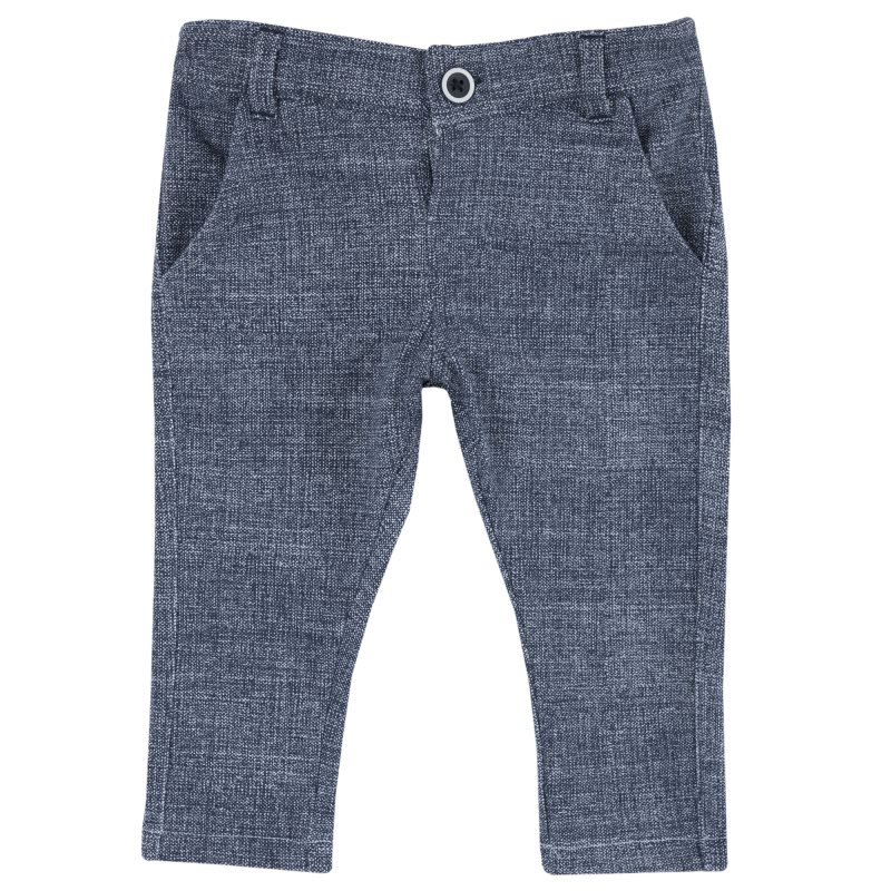 Pants Chicco, size 092, gray-blue