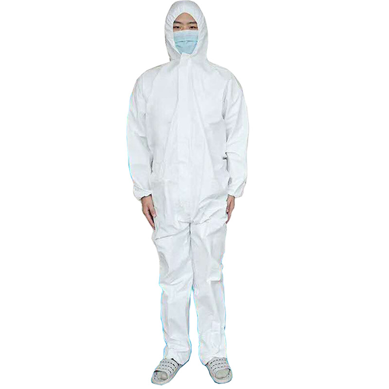 Wrap Foot Coverall SMS Chemical Safety Clothing Health Care Hazmat Suit Factory Dust-proof Protective Clothing Workwear