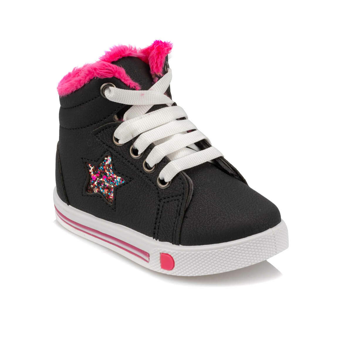 FLO 92.510832.B Black Female Child Boots Polaris
