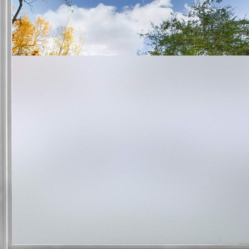 200CM Matte White Frosted Window Film For Bathroom Self Adhesive Vinyl Static Cling Privacy Glass Door Sticker Home Decor