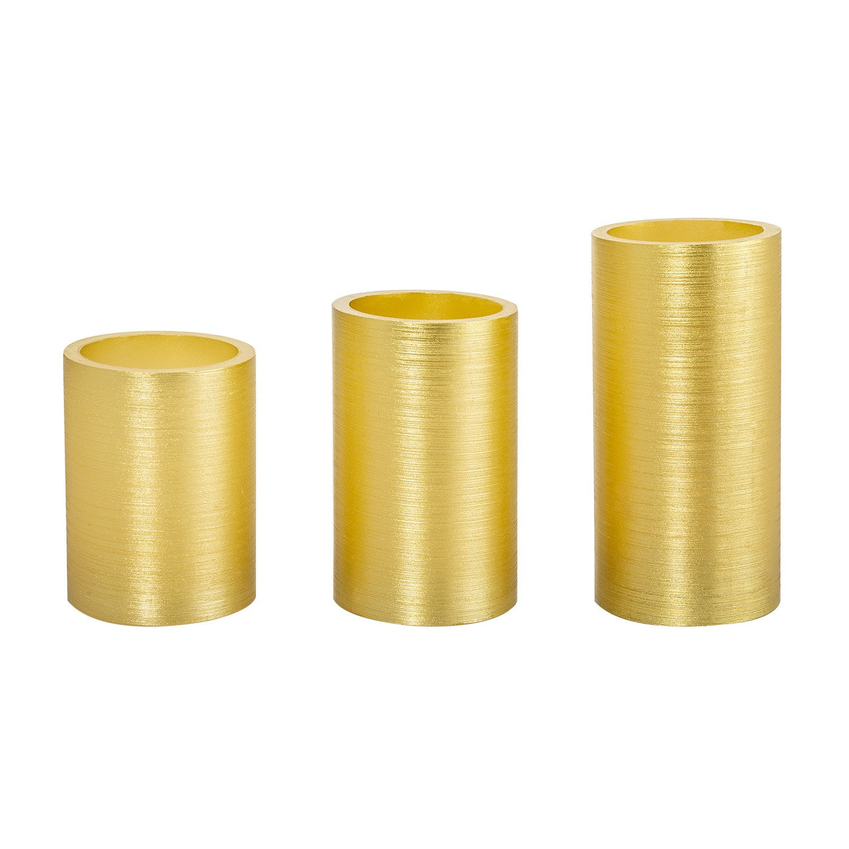 Pack Velas LED Golden Color Special Flame (3 A