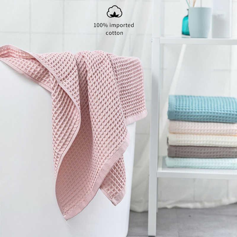 YIANSHU 70x140cm 성인 부드러운 흡수 수건 가정용 욕실 타월 세트에 대 한 높은 품질 100% 코 튼 와플 목욕 타월