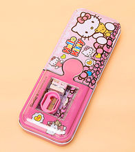 Hellokitty Pencil Case Multi Function Pencil box rubber ruler pencil set Student School K-9377(China)