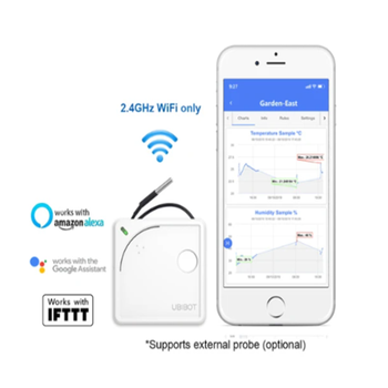 UbiBot wireless remote monitoring temperature,humidity,light data logger for lab/greenhouse/storage/server room bside bth02 waterproof two channel temperature humidity dew point data logger with usb interface page 1 page 4