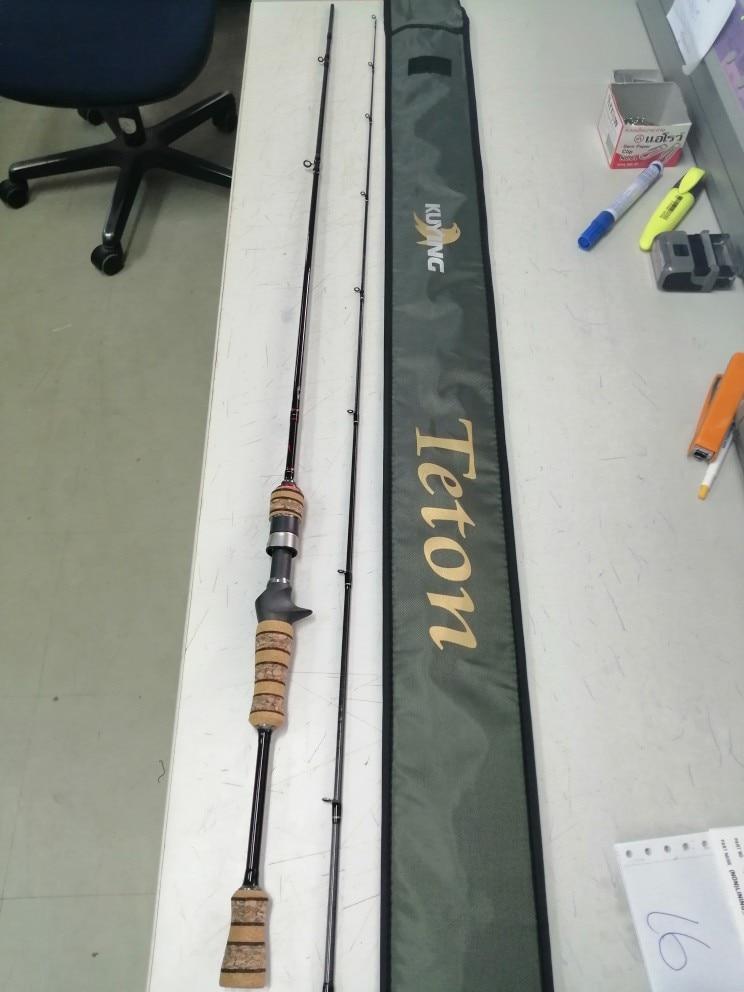 Varas de pescar bastão carbono kuying