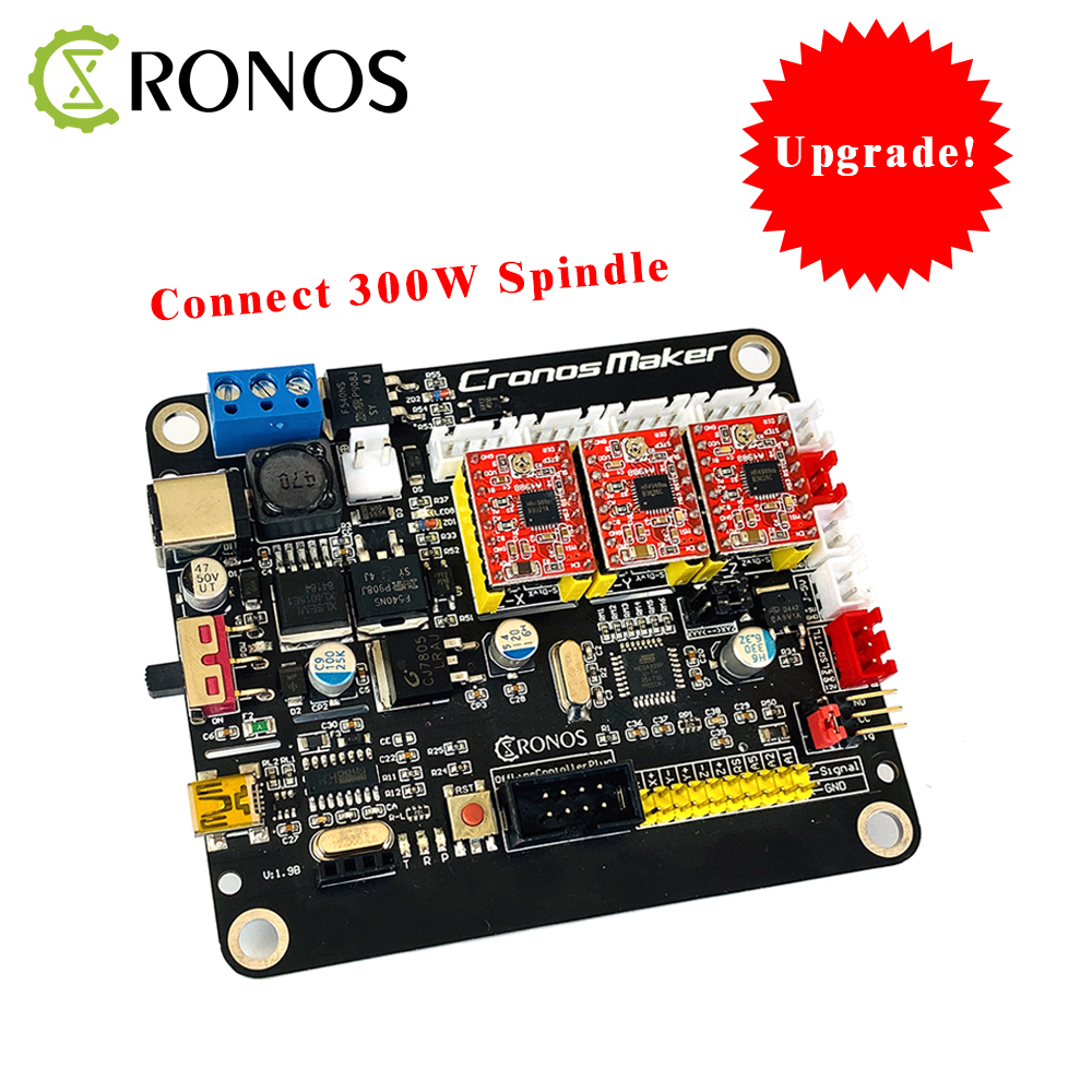 GRBL CNC Controller Control Board 3Axis Stepper Motor Connect To 300W Spindle Double Y Axis USB Driver Board For CNC Laser Engra