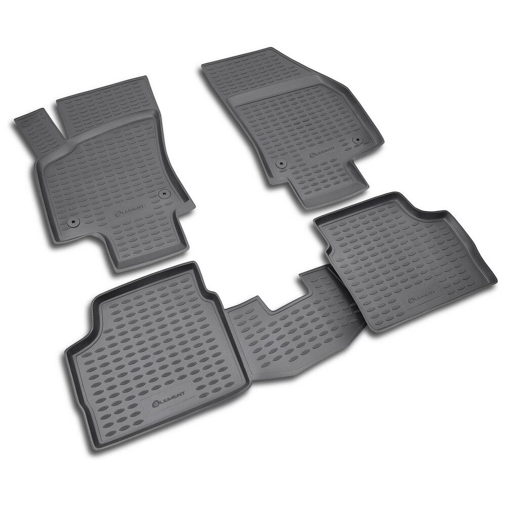 Floor Mats For OPEL Astra H 2007-> Gray. 4 PCs NLC.37.21.210