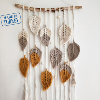 Macrame Woven Wall Hanging Handmade Cotton Tapestry Art Beautiful Apartment Dorm Room Wedding Decoration Made in Turkey braided leaf macrame woven tapestry wind chimes bohemian room decor wall hanging art beautiful apartment dorm room decoration