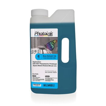 DX5 and DX7/5113 Head for 1000 ml BLUE CYAN ECO SOLVENT Ink